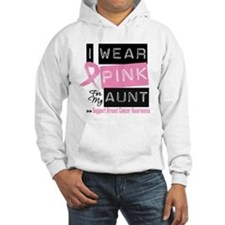 Pink Aunt Breast Cancer Hoodie