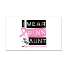 Pink Aunt Breast Cancer Car Magnet 20 x 12
