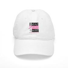 Pink Aunt Breast Cancer Baseball Cap