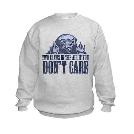 TwoClawsintheAirDontCare2.png Kids Sweatshirt