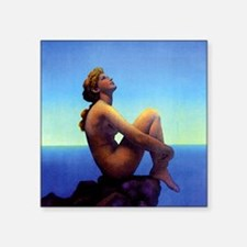 "Maxfield Parrish Stars Square Sticker 3"" x 3"""