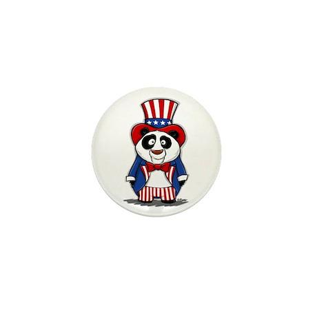 Patriotic Panda Mini Button