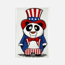Patriotic Panda Rectangle Magnet