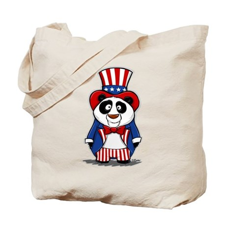 Patriotic Panda Tote Bag