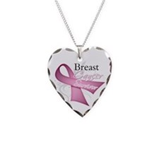 Survivor - Breast Cancer Necklace Heart Charm