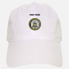 Fort Story with Text Baseball Baseball Cap