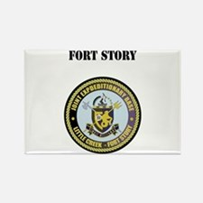 Fort Story with Text Rectangle Magnet