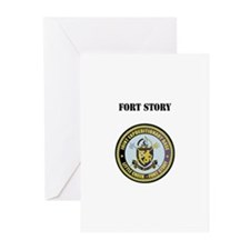 Fort Story with Text Greeting Cards (Pk of 20)