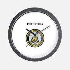 Fort Story with Text Wall Clock