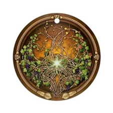 Sacred Celtic Trees - Vine Ornament (Round)