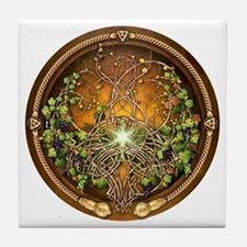 Sacred Celtic Trees - Vine Tile Coaster