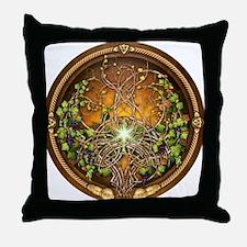 Sacred Celtic Trees - Vine Throw Pillow