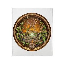 Sacred Celtic Trees - Vine Throw Blanket