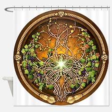 Sacred Celtic Trees - Vine Shower Curtain