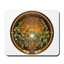 Sacred Celtic Trees - Vine Mousepad