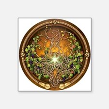 "Sacred Celtic Trees - Vine Square Sticker 3"" x 3"""