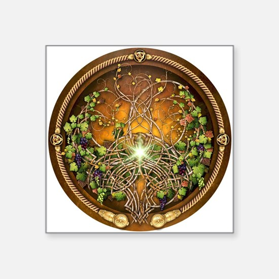 "Sacred Celtic Trees - Vine Square Sticker 3"" x 3"""