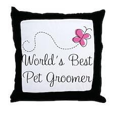 Pet Groomer (Worlds Best) Throw Pillow