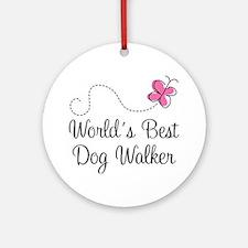 Dog Walker (World's Best) Ornament (Round)
