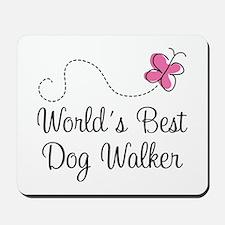 Dog Walker (World's Best) Mousepad