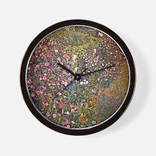 Gustav Klimt Italian Garden Wall Clock