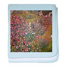 Gustav Klimt Italian Garden baby blanket