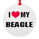 Beagle Round Ornament