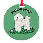 Bichon Frise Round Ornament