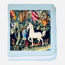 William Morris Unicorn baby blanket