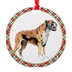 Boxer Dog Round Ornament