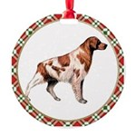 Brittany Dog Round Ornament
