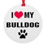 Bulldog Round Ornament