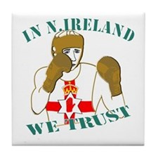 In N.Ireland boxing we trust Tile Coaster