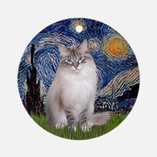 Starry - Ragdoll cat Ornament (Lynx CP) (Round)