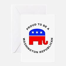 Washington Republican Pride Greeting Card
