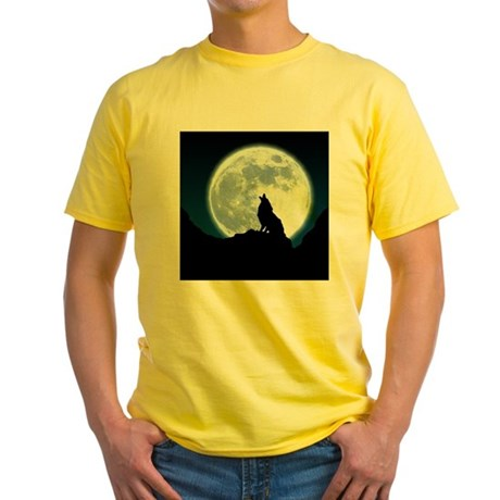 Howling Wolf Yellow T-Shirt