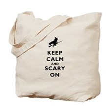 Keep Calm And Scary On Tote Bag
