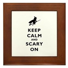 Keep Calm And Scary On Framed Tile