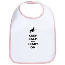 Keep Calm And Scary On Bib