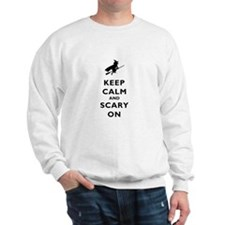 Keep Calm And Scary On Jumper