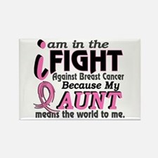 In Fight Because My Breast Cancer Rectangle Magnet