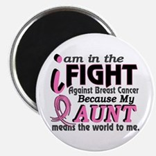 """In Fight Because My Breast Cancer 2.25"""" Magnet (10"""