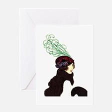 prettyhatlady Greeting Card
