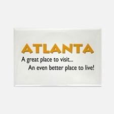 Atlanta...great place to live Rectangle Magnet (10