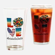 Anti-consumer slogan Drinking Glass