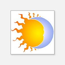 """Sun moon no lines Square Sticker 3"""" x 3"""""""
