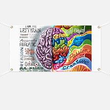 Left Brain Right Brain Cartoon Poster Banner