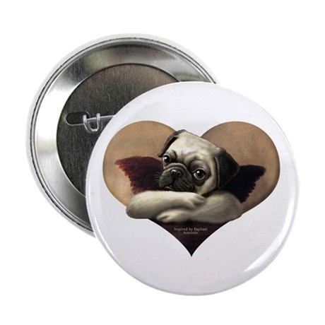 "Angelic Pug 2.25"" Button"
