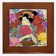 Kiku Framed Tile