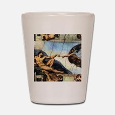 Michelangelo Creation Of Adam Shot Glass
